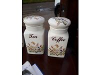 Tea Coffee Canisters - glazed