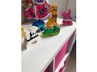 Duplo figures and puzzle