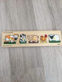 ELC Wooden Animal Puzzle Board