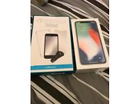 Apple iPhone X 64gb silver & starter kit brand new and sealed