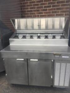 Used Traulsen VPS48S 48in Stainless Steel Pizza Prep Cooler