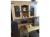 WALL UNIT WITH GLASS DOORS AND DRAWERS GOOD CONDITION £68.00