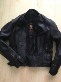 Genuine leather Belstaff motorbike jacket with inner lining, size 12, excellent condition