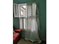 Free white curtains - long, semi-sheer