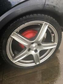 17 Inch Alloys 4x100 5 spoke mint tyres