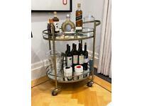 Amara - Brass mirror drinks trolley