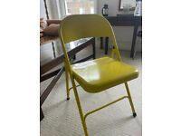 Habitat Macadam Metal Folding Chair - Yellow