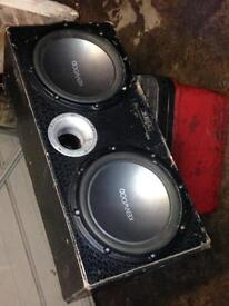 Kenwood subs in box🔈🔈