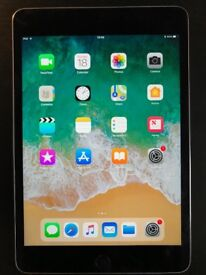 iPad mini 4. 64Gb, space grey (model A1538), with smart cover.
