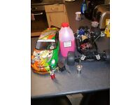 2 nitro rc cars. Spares or repairs due to need tuning