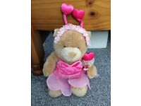 A Build a Bear Teddy with 2 FREE OUTFITS