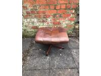 Retro leather stool by Gote