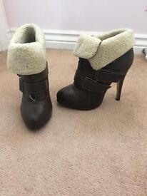 Brown Ankle Boots Size 4