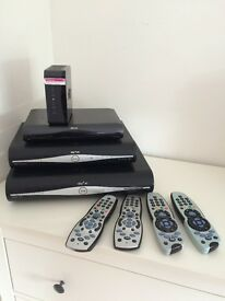 Sky boxes and remotes