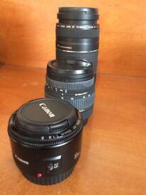 Set of 3 Canon Lenses