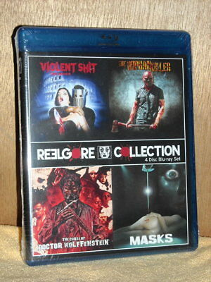 Reelgore Collection (Blu-ray, 2017,  4-Disc) Violent Sh*t Orphan Killer Masks NE (Orphan Killer Mask)