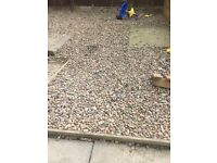 2 tonnes of gravel approx. Ideal for hardcore or just in garden
