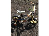 Kids action man bike with stabilisers
