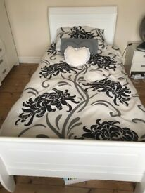 White Single Sleigh Bed