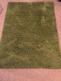 Large Green Shag Pile Rug