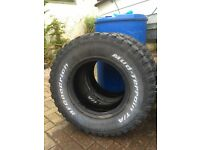 4 X BF GOODRICH MUD TERRAIN TYRES 235/85 R16 TO FIT LANDROVER DEFENDER