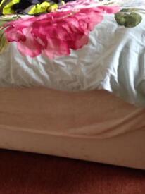 Divan double bed and super clean mattress