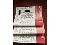 4 tickets for THE VAMPS Motorpoint Arena Cardiff, 17/04/2018, sold individually or together