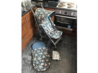 Maclaren Quest Cath Kidston, Beautiful.. Footmuff & Raincover Included **CAN POST**