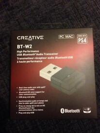 Creative BT-W2 USB Bluetooth Audio Transceiver - Brand New, Sealed