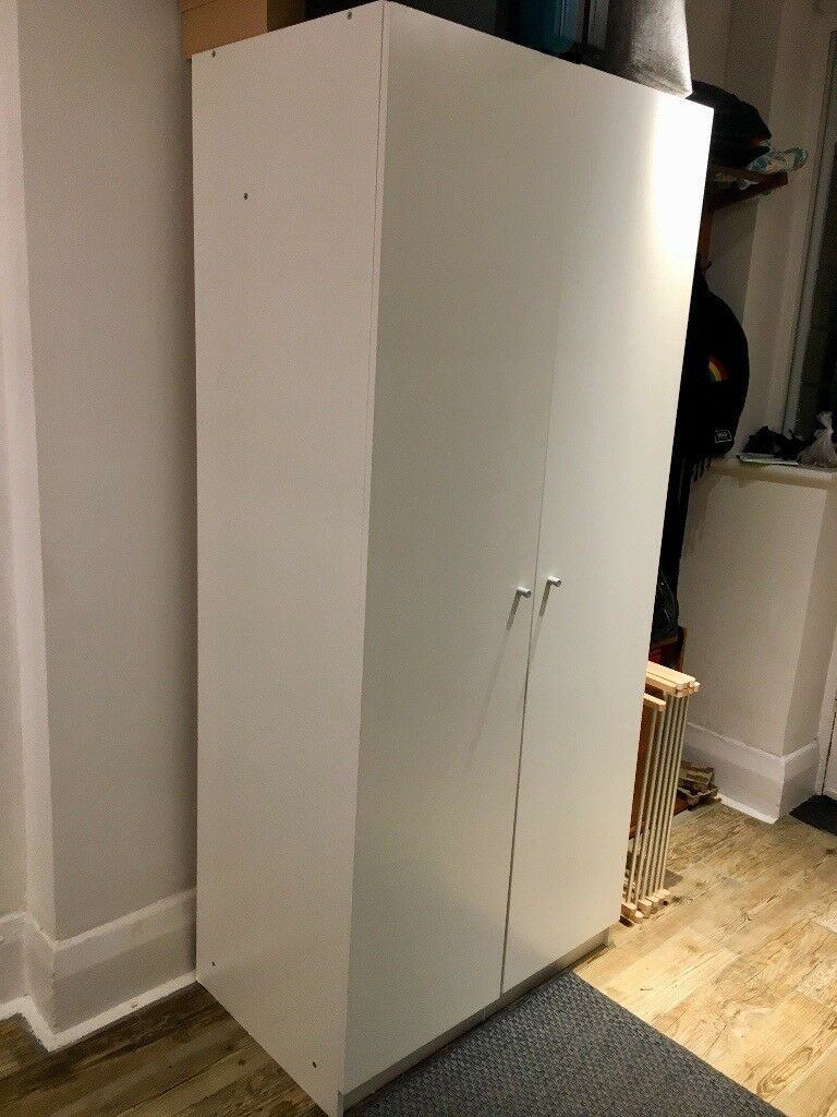 Ikea Wardrobe Bostrak White 80x50x180 Cm In Surbiton