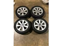 "Set of 16"" genuine Mercedes alloy wheels and tyres Mercedes Vw Audi"