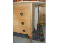 chest of drawers / dressing table - kidney shape