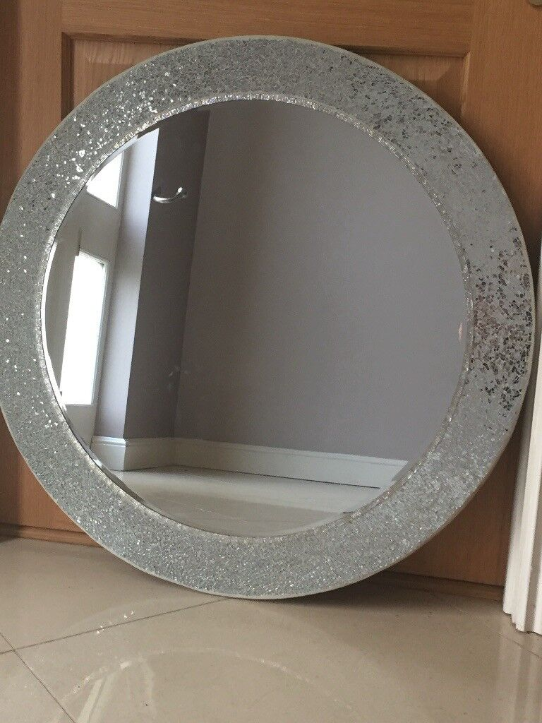 Next Large Round Sparkle Mirror