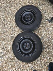 5x98 Fiat Doblo / Vauxhall combo wheels with new tyres