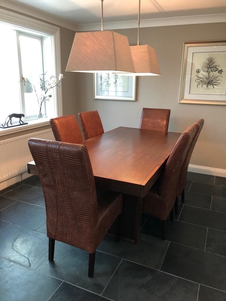 Walnut Dining Table With 6 Chairs In Washington Tyne And Wear