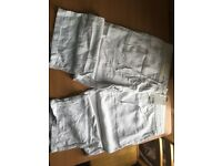 White next size 18 crop linen trousers