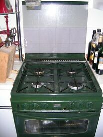 Gas cooker with electric grill and oven, 60 cm wide