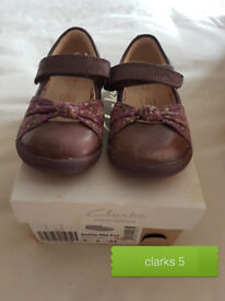 Girls Clarks Shoes and Wellies Size 5