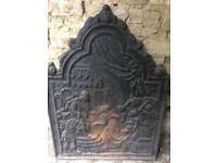 Beautiful Antique Cast Iron Fire Back
