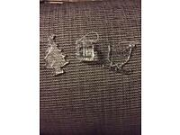 3 boxes of 3 glass Christmas ornaments