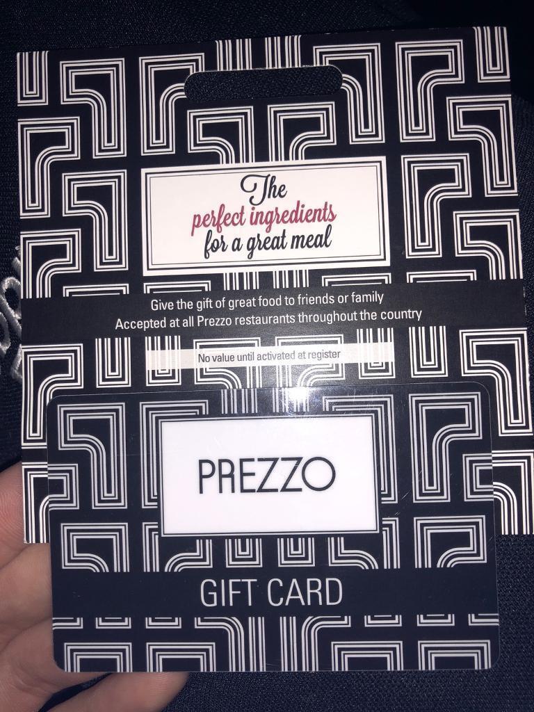 £25 Prezzo gift card