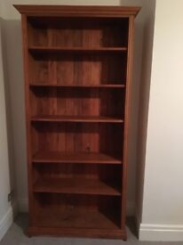 2x solid wood bookcases