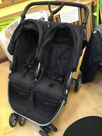 Complete travel system- Britax B-Agile Double Stroller (Cosmos Black)