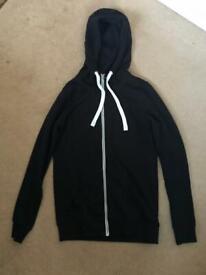 Black Zip Hoodie size XS
