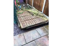 Fence panels (scrap wood)