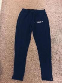 Gymshark mens slim fit joggers navy in uk Large
