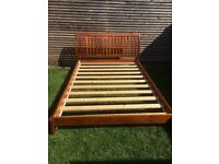 House clearance, dbl bed with mattress, sofa bed, desk, chair, shelf, farmhouse chairs, bedside