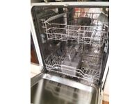 Integrated Kenwood dishwasher with instruction manual