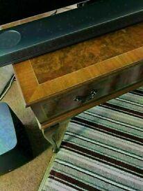 Sensible Offers... Fine Quality Antique Burr Walnut Inlaid TV/Media Cabinet