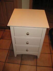 White Bedside Table 3-drawer
